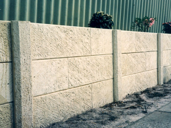 Concrete Panel & Post Retaining Wall