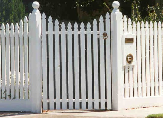 picket gate
